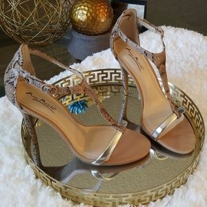 Anne Michelle Princess style Snake skin Sandals